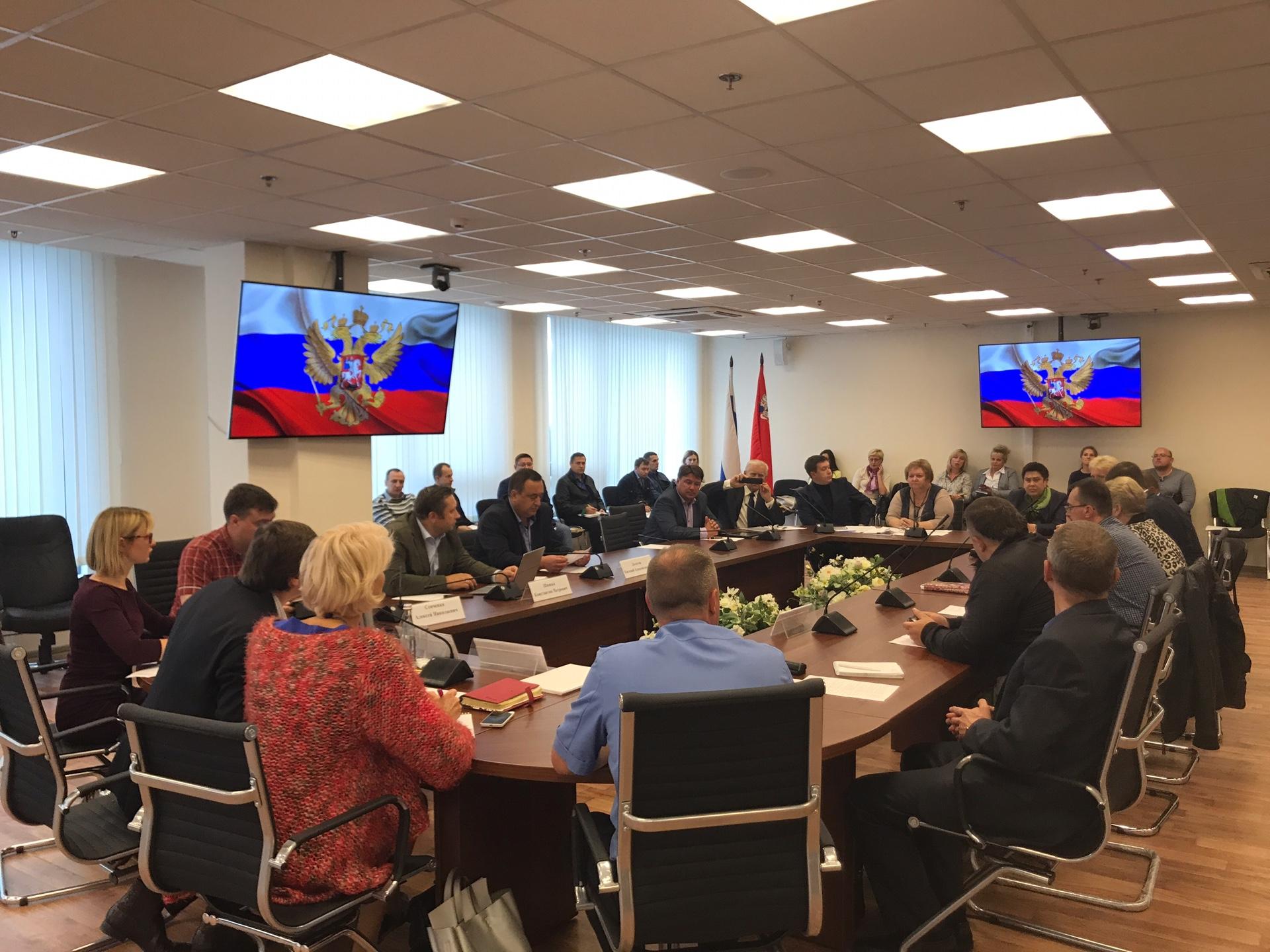 Заседании Общественной палаты Подмосковья и ГЖИ
